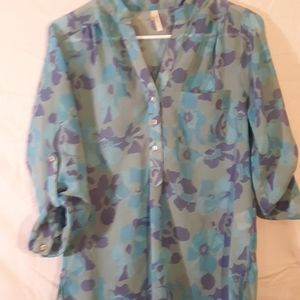 Truth NYC Sheer Tunic Top Size Small